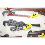 (4) ASSORTED TRIMO AND PEXTO PIPE WRENCHES
