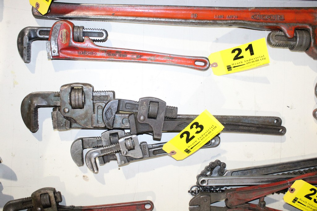 Lot 23 - (4) ASSORTED TRIMO AND PEXTO PIPE WRENCHES