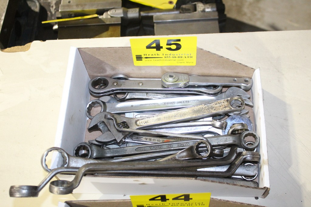Lot 45 - CRESCENT WRENCH AND COMBINATION WRENCHES