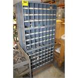 (3) 32 SLOT PIGEON HOLE PARTS CABINETS AND CONTENTS OF SORTED SET SCREWS, DOWEL PINS AND SHOULDER