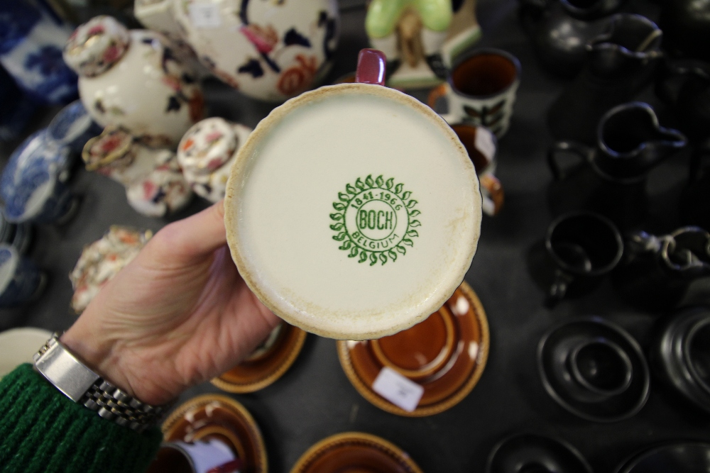 Lot 25 - Boch Set of Cups & Saucers (1841-1866)