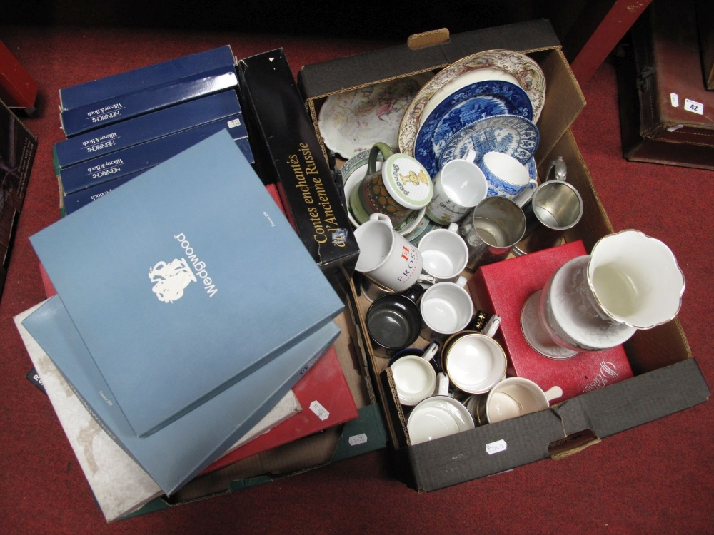 Lot 41 - Lead Crystal Tumblers, Villery and Boch, Wedgwood cabinet plates, including Russian Fairy Tales