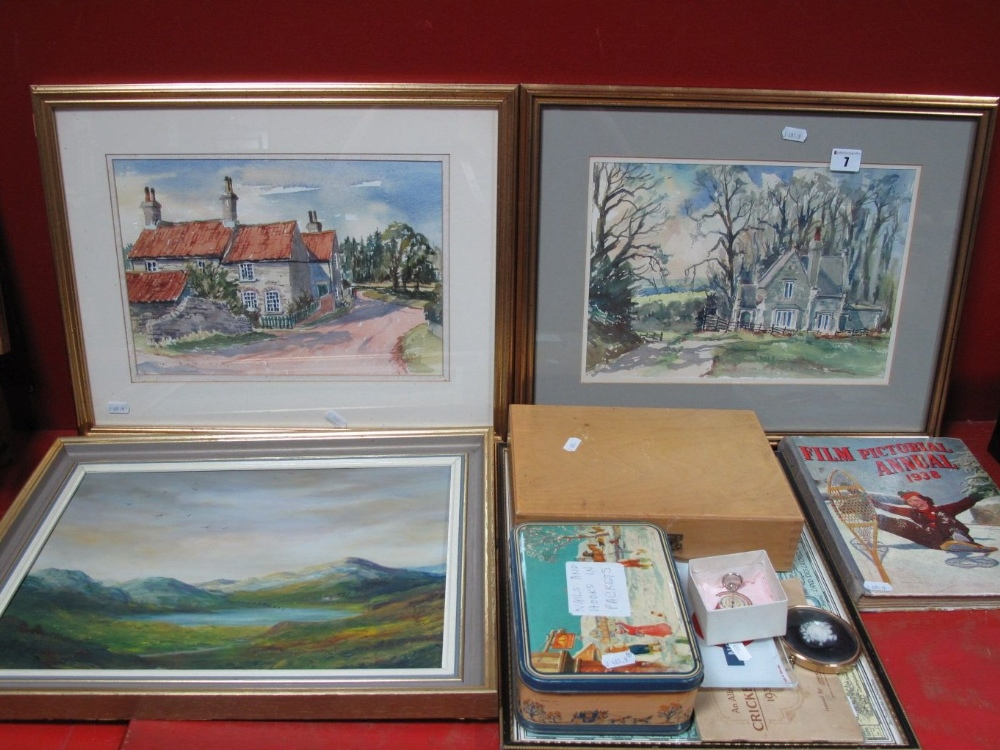 Lot 7 - G.Robinson 'House on a County Lane' Watercolour, signed lower right 23 x 33cms, another by the