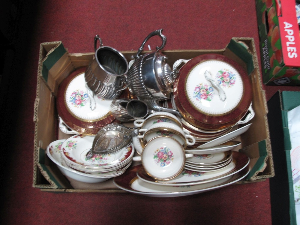 Lot 22 - R.Harvey 'Kent' Dinner Wares, of approximately thirty three pieces, 'Regency' bowls, silver plated