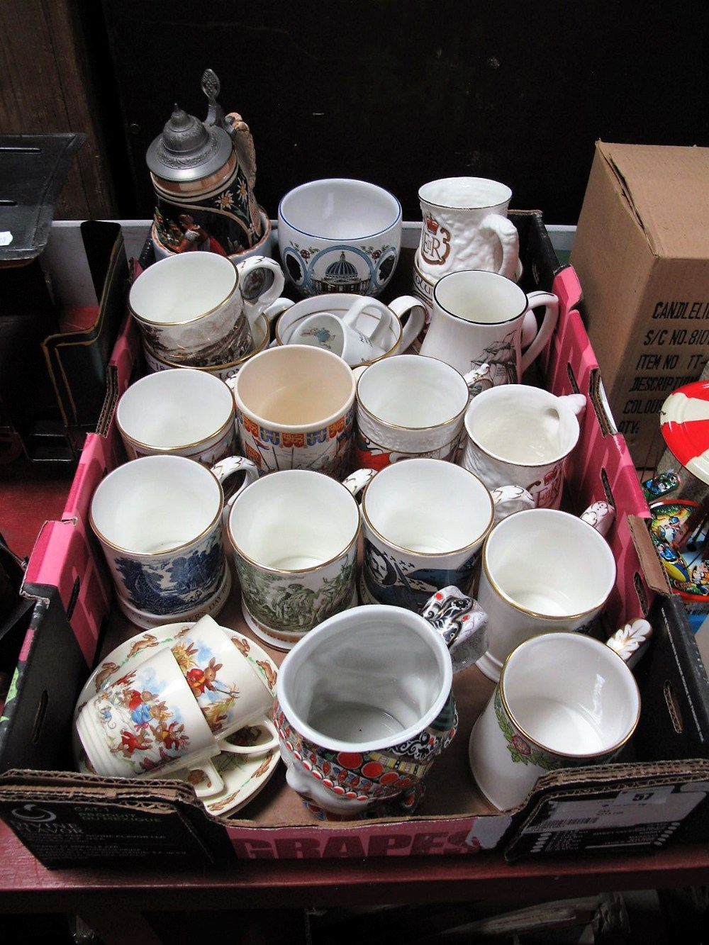 Lot 57 - A Collection of Coalport, Spode and Denby Souvenir Anniversary and Collectors Mugs, and tankards,