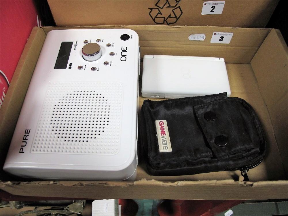 Lot 3 - A Pure One Digital Radio, Nintendo DS Lite.