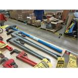 IDEAL OFFSET PIPE BENDER, RIDGID 36'' & 24'' PIPE WRENCHES