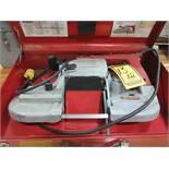 MILWAUKEE HD PORTABLE BAND SAW, MODEL: 6230, S/N 420127 W/CASE & MILWAUKEE HD PORTABLE BAND SAW,