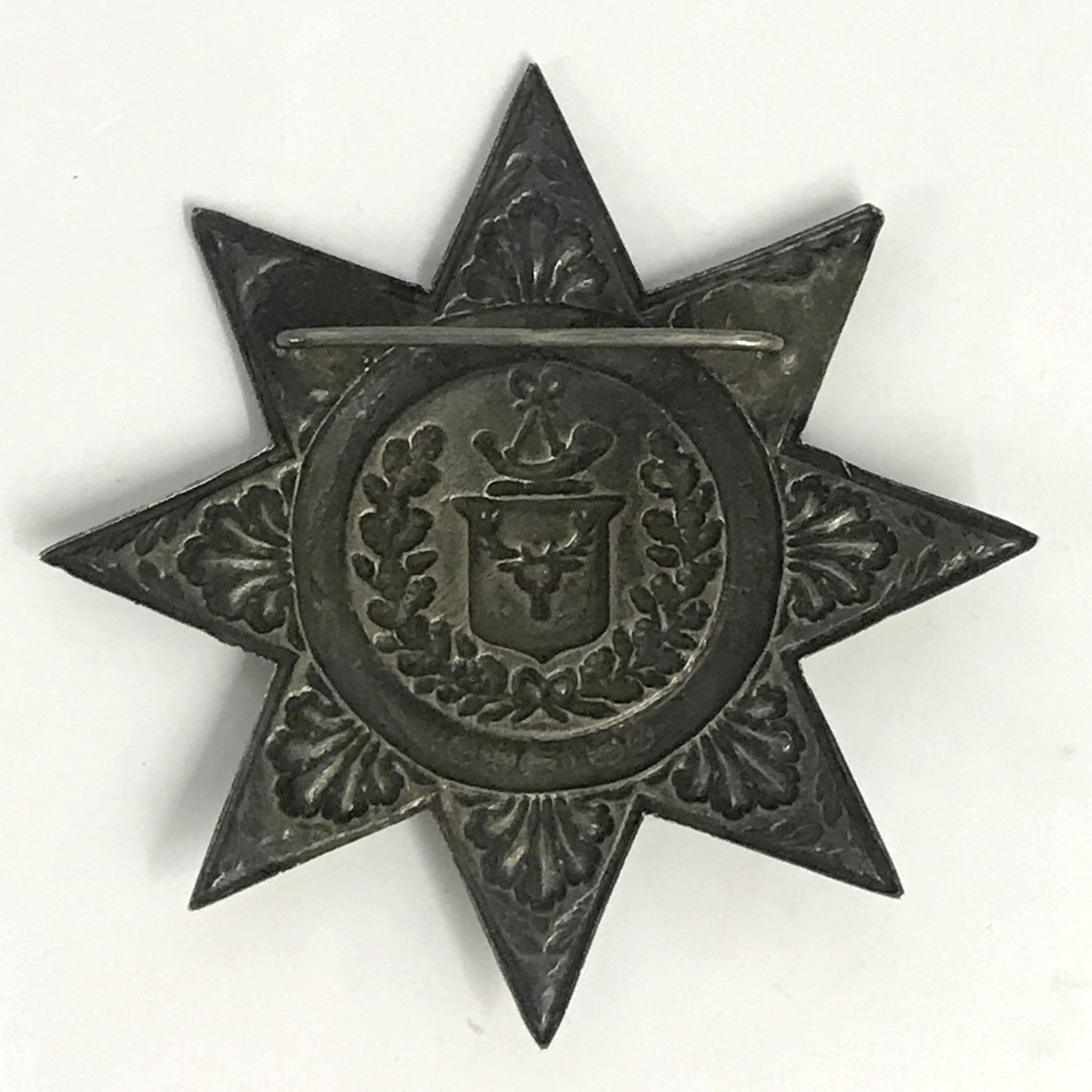 Lot 30 - Antique Ancient Order Of Foresters Large Hallmarked Silver Star Jewel Badge & Medal