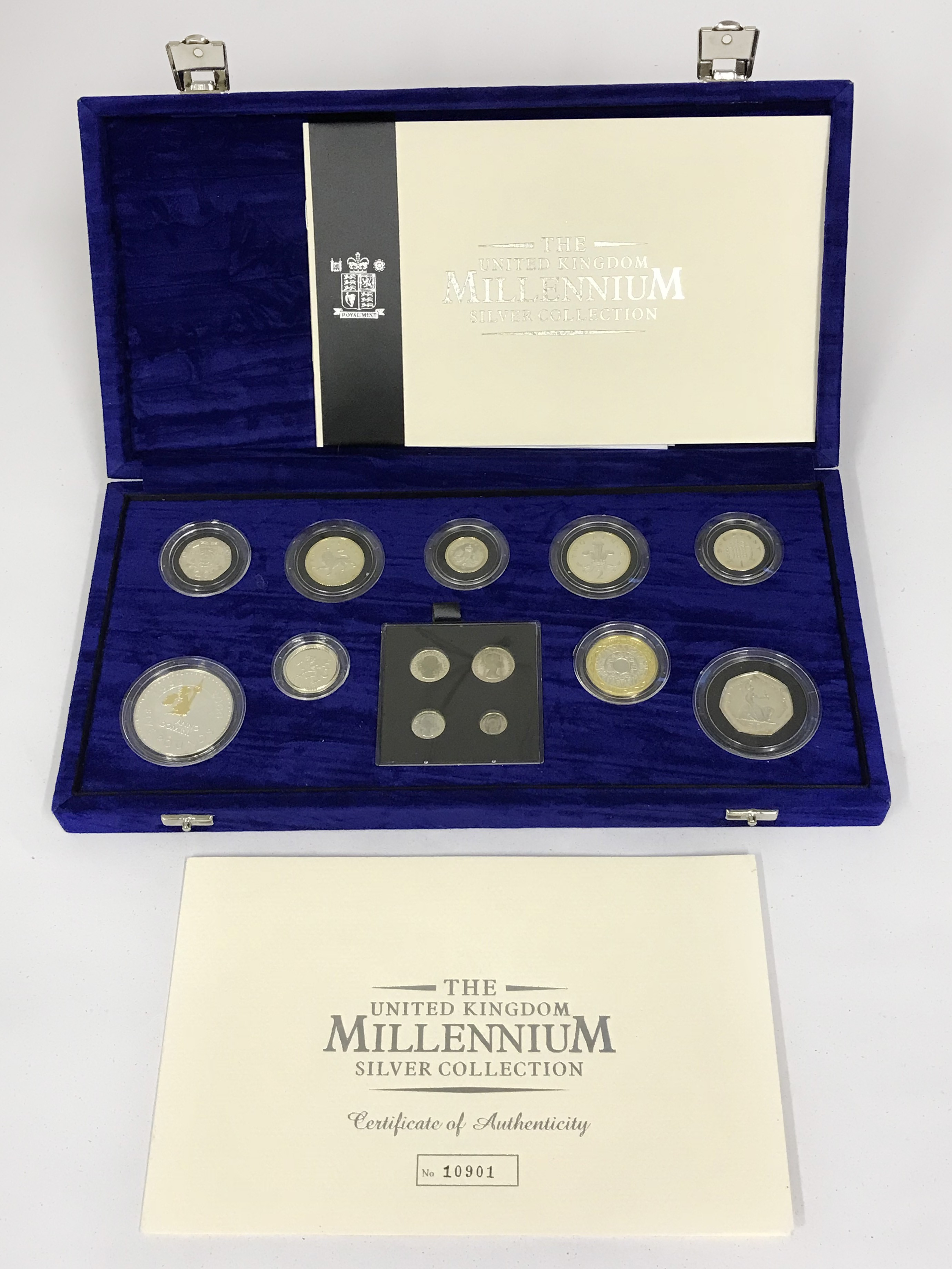 Lot 31 - 2000 ROYAL MINT MILLENNIUM 13 COIN SILVER PROOF COIN COLLECTION WITH MAUNDY SET