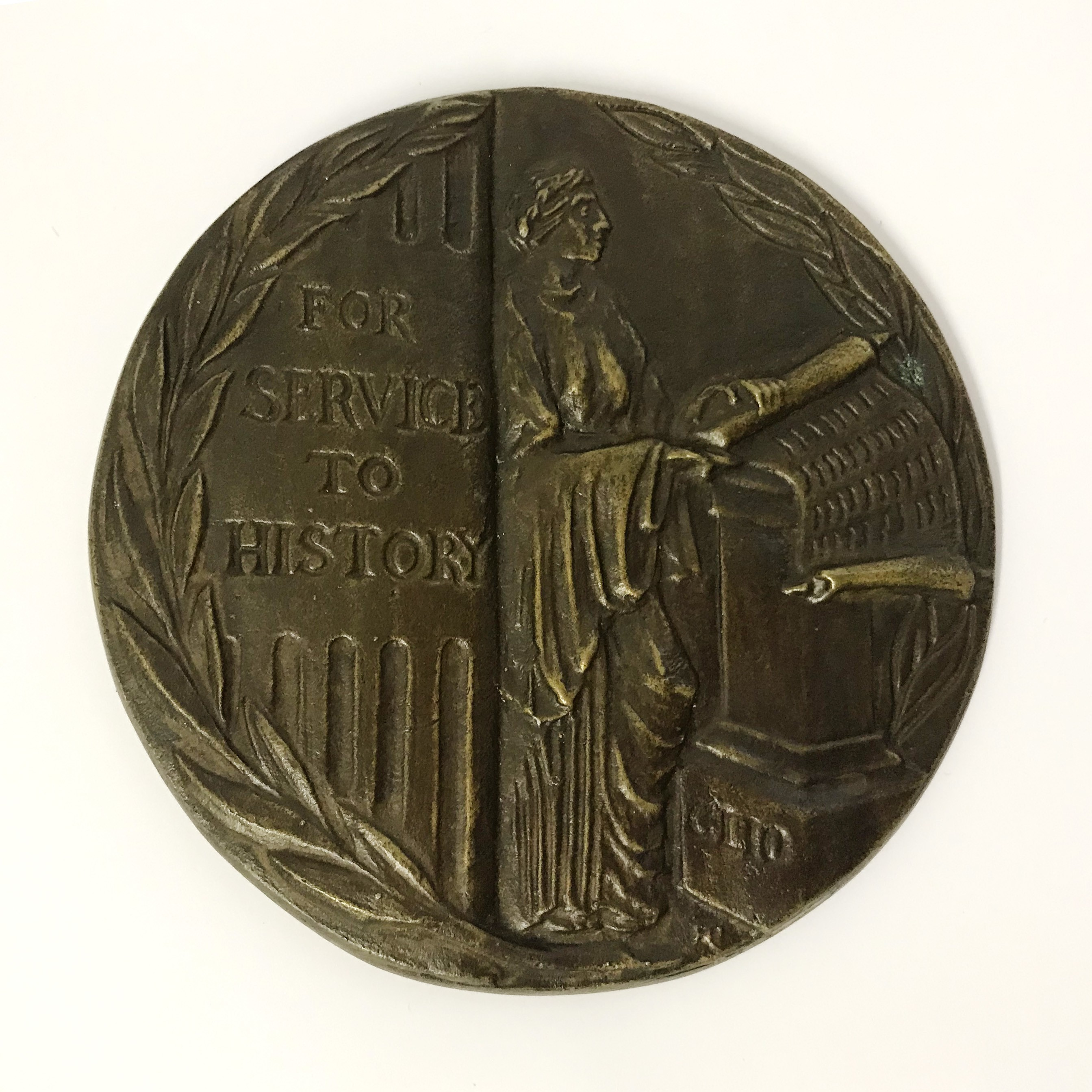 Lot 46A - THE NORTON MEDLICOTT BRONZE MEDAL FOR SERVICE TO HISTORY TO PROF RAGNHILD HATTON