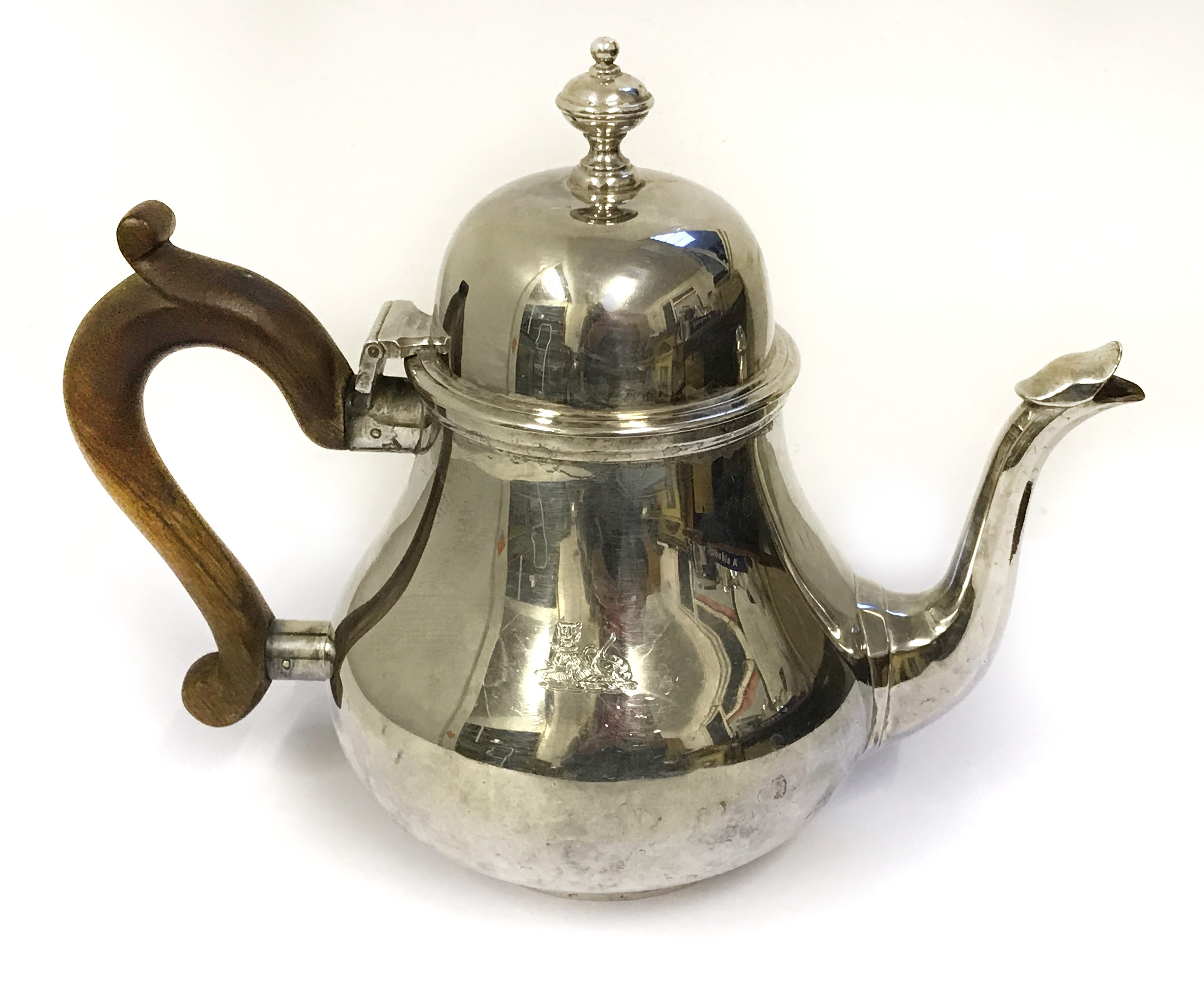 Lot 22A - FOUR PIECE HALLMARKED SILVER TEA SET (VARIOUS MAKERS & YEARS)