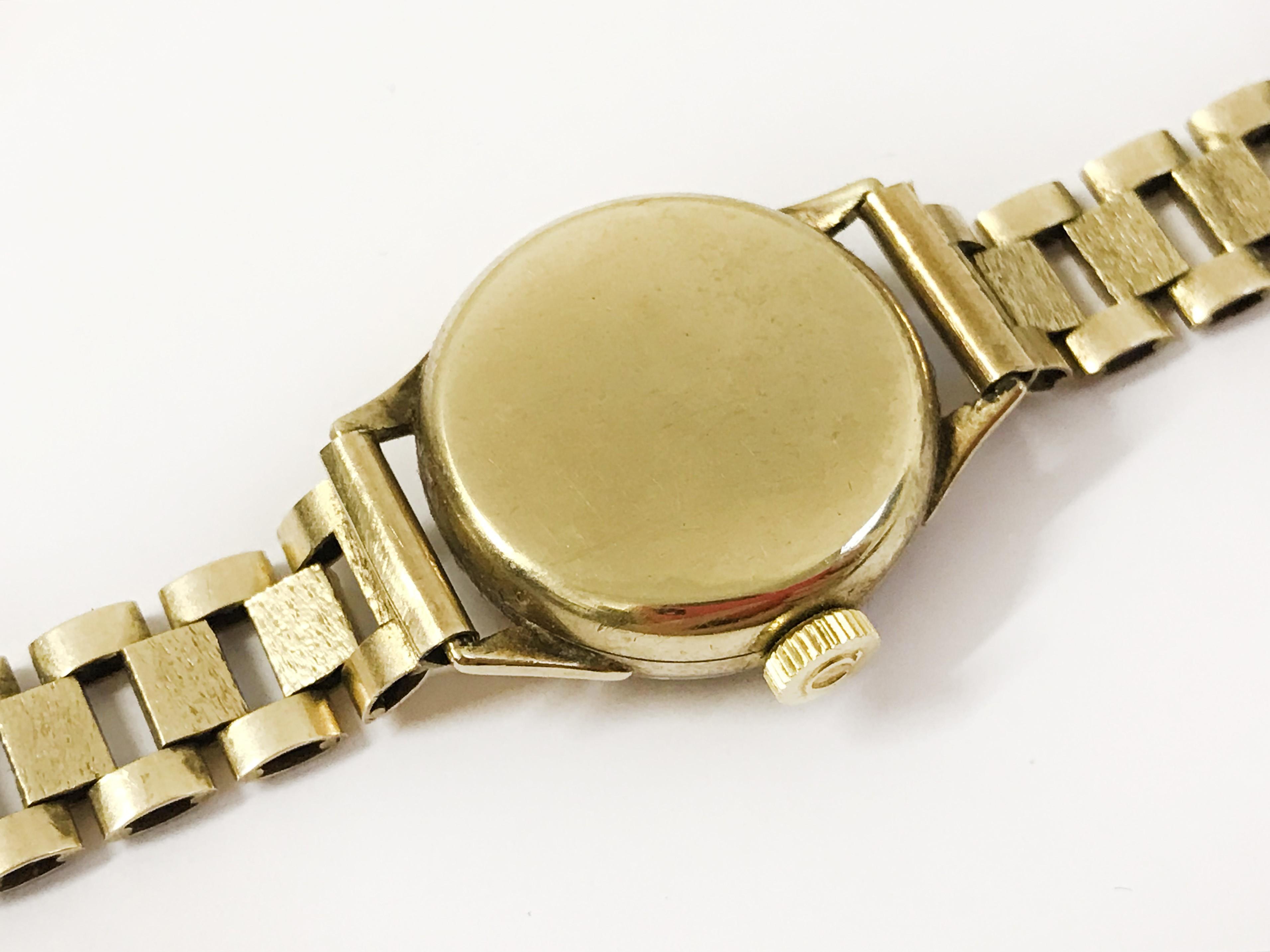 Lot 10A - 9ct GOLD WRISTWEAR WATCH BY OMEGA