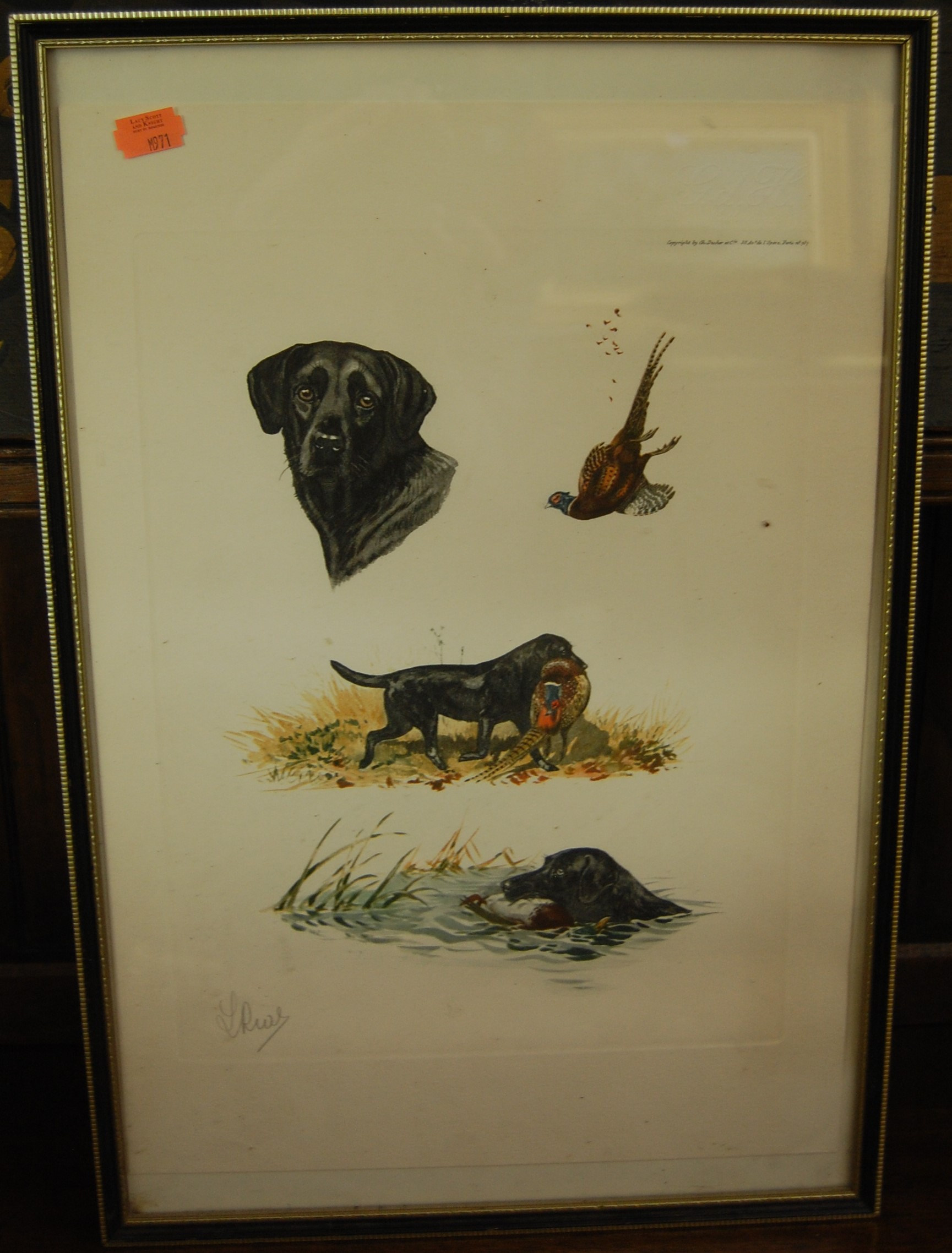 Lot 1049 - Assorted pictures and prints to include dog studies