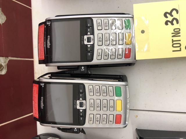 Lot 33 - (2) INGENICO Terminaux Cartes Crédit a/ bases