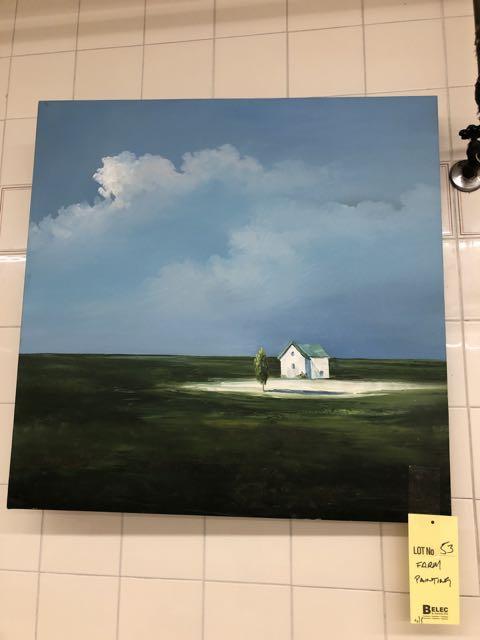 Lot 53 - Peinture - Ferme