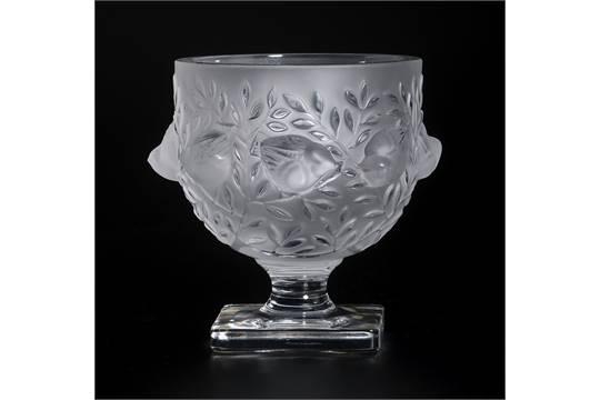 Vase Elisabeth En Verre Press Moul Sign Lalique France Nbsp