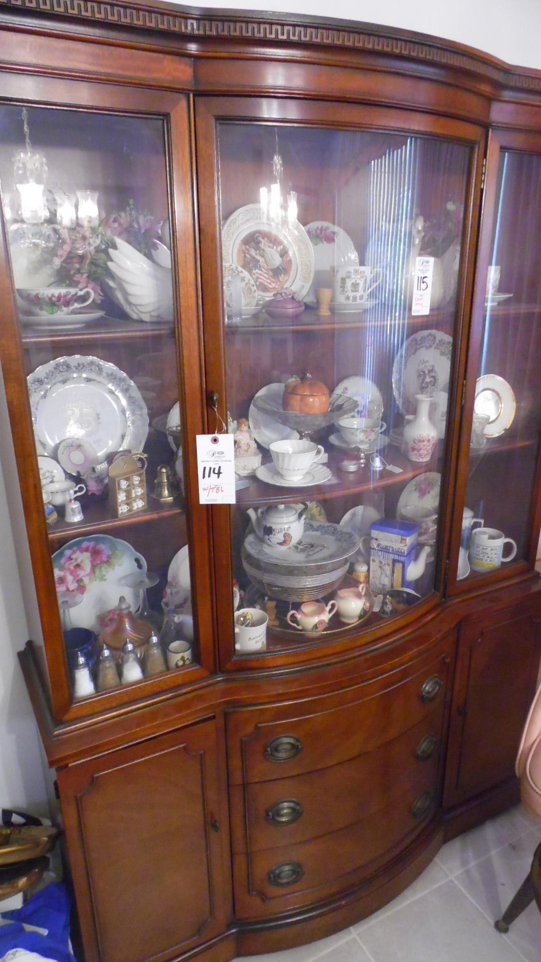 DINING TABLE w/ CHAIRS & CHINA CABINET