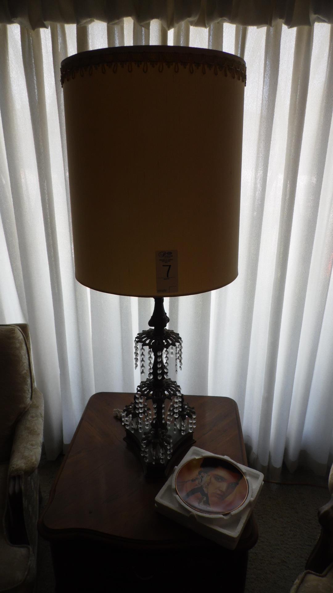 Lot 7 - LAMP / ELVIS PLATE