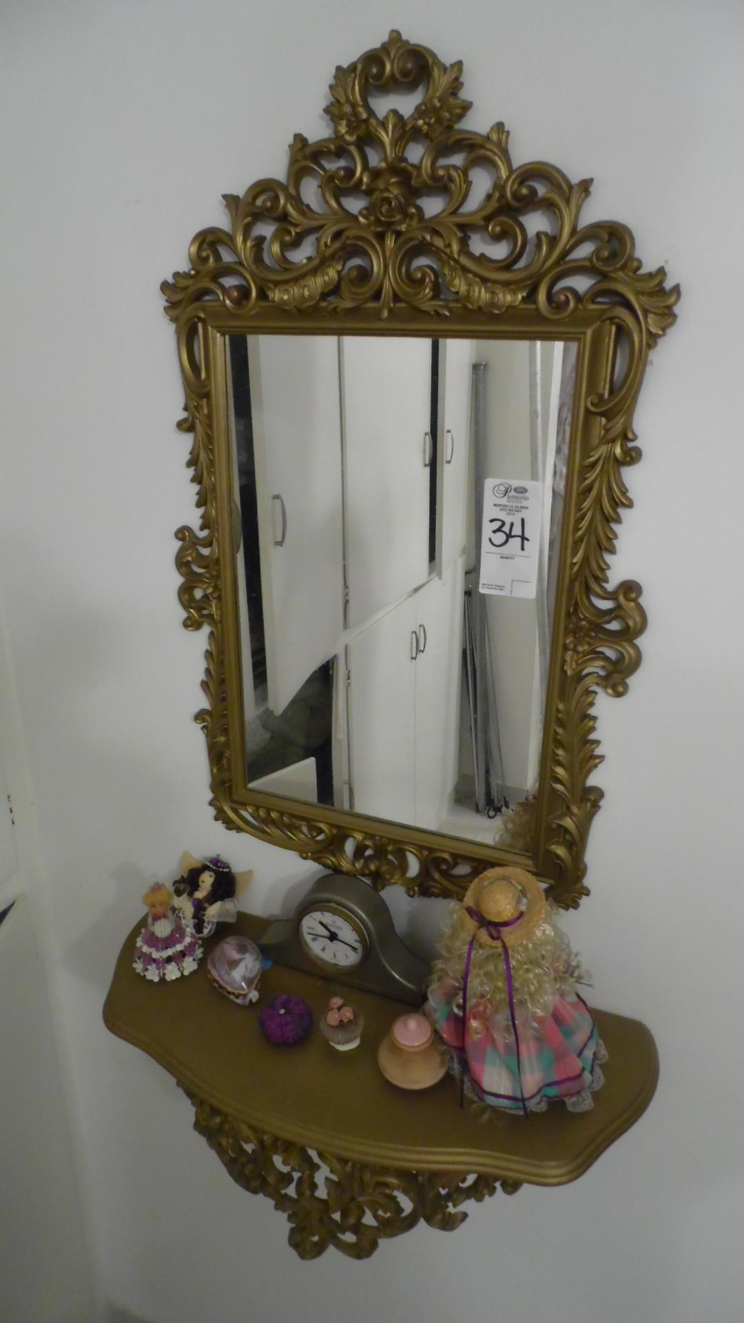 Lot 34 - MIRROR / STAND / FIGURES