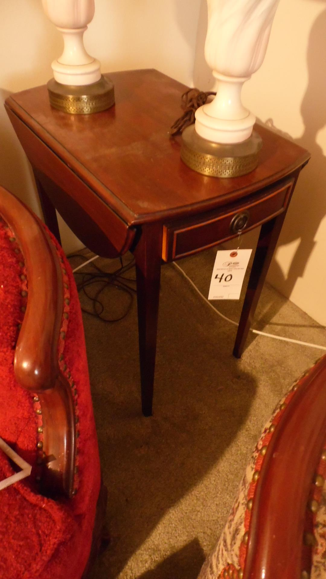 Lot 40 - SMALL DROP LEAF TABLE