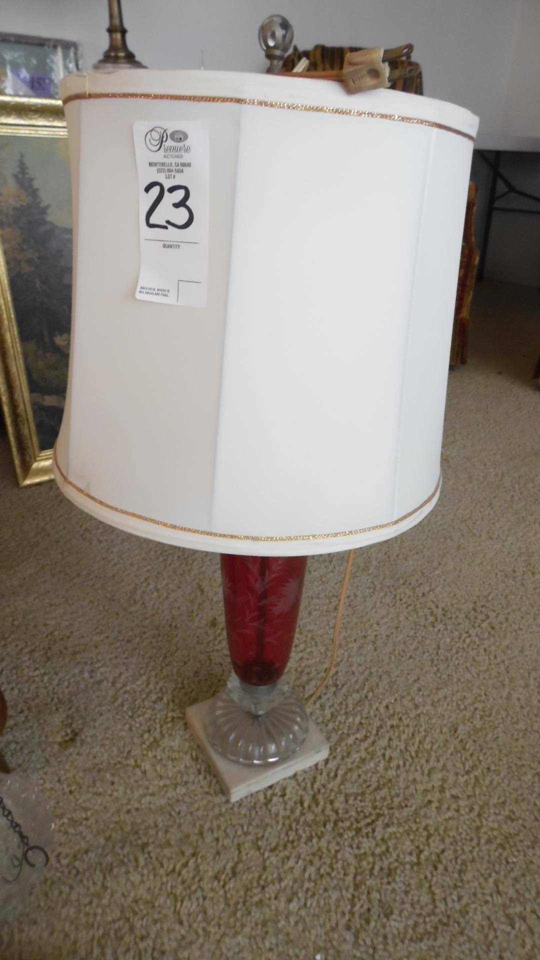CRANBERRY LAMP