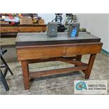 """FERE BENCH CENTER ON 20-1/2"""" X 59"""" T-SLOTTED TABLE WITH STAND"""