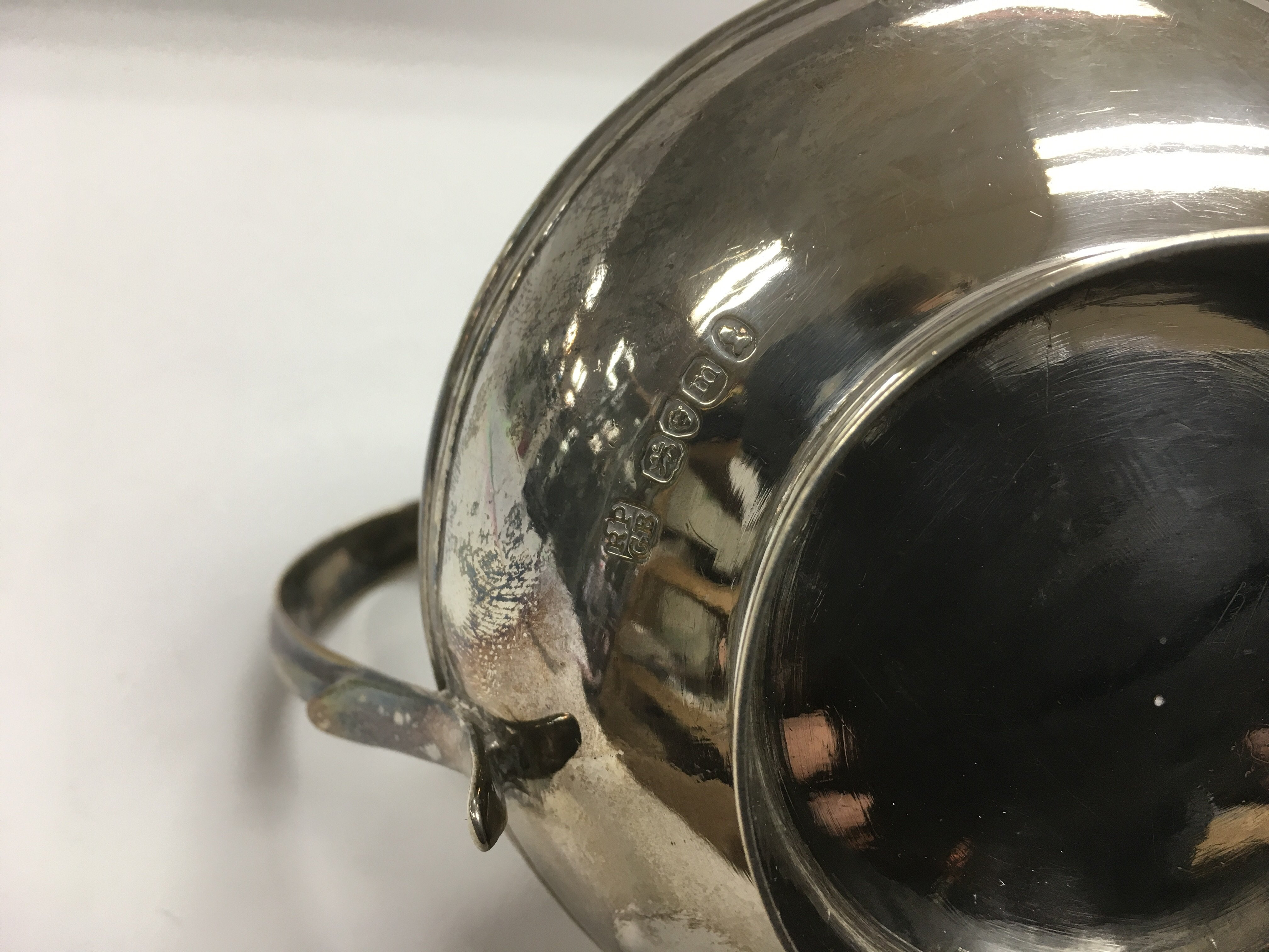 Lot 309 - A Victorian silver gilt jug with banded decoration