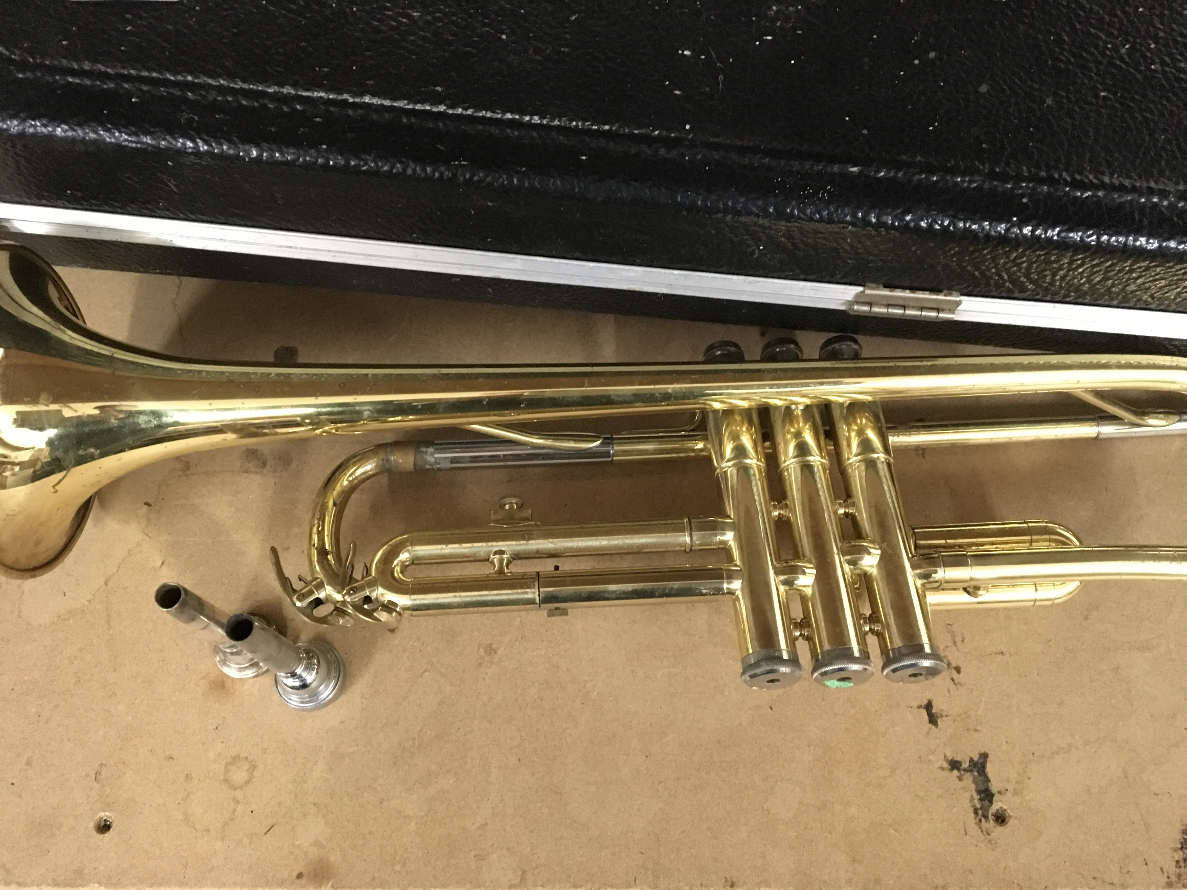 Lot 1872 - A cased trombone and trumpet