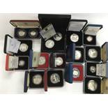 Fifteen sets of cased commemorative silver proof c