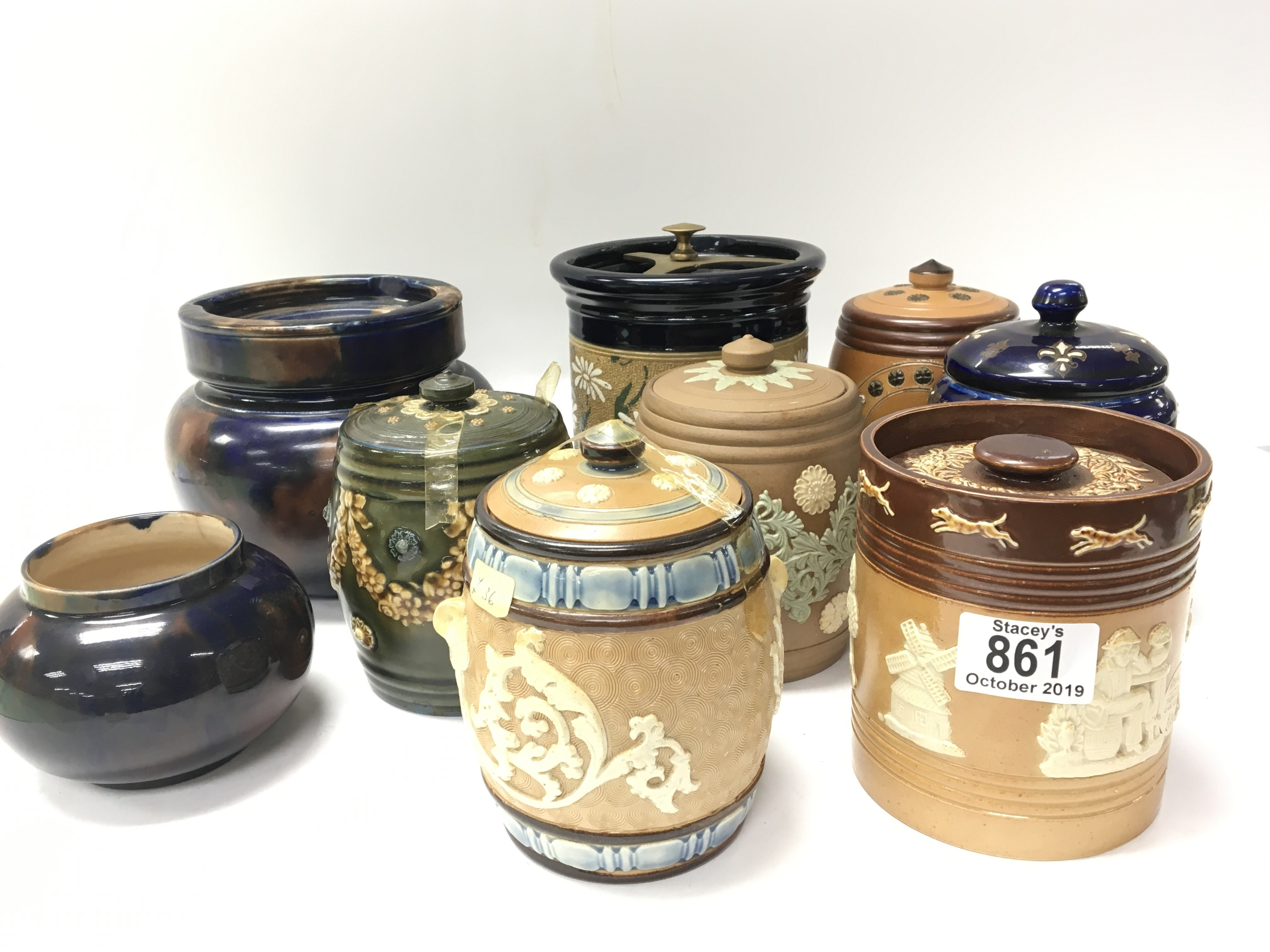 A collection of Lambeth Royal Doulton and other st