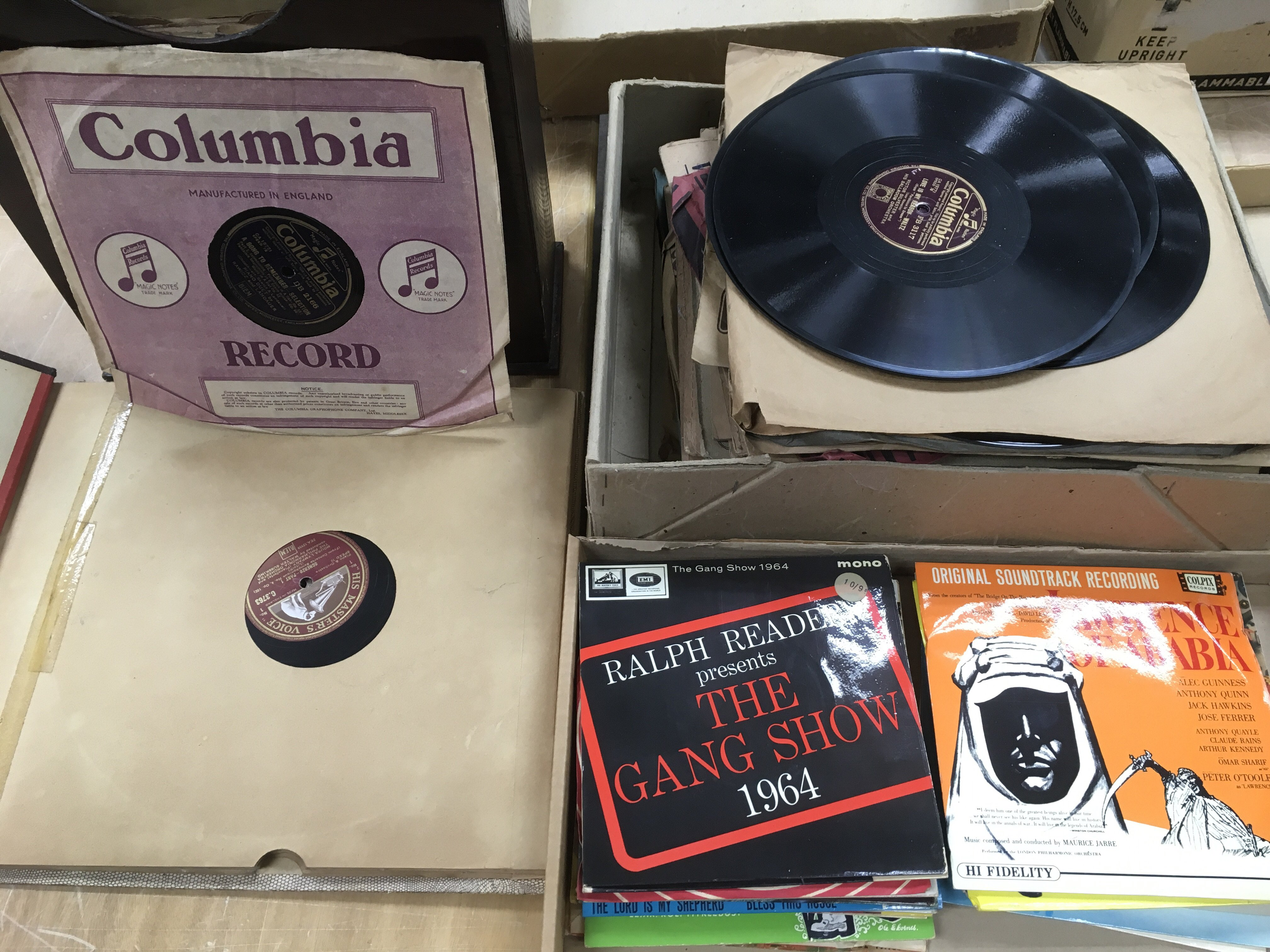 Lot 1765 - A collection of 78rpm records and 7inch singles, v