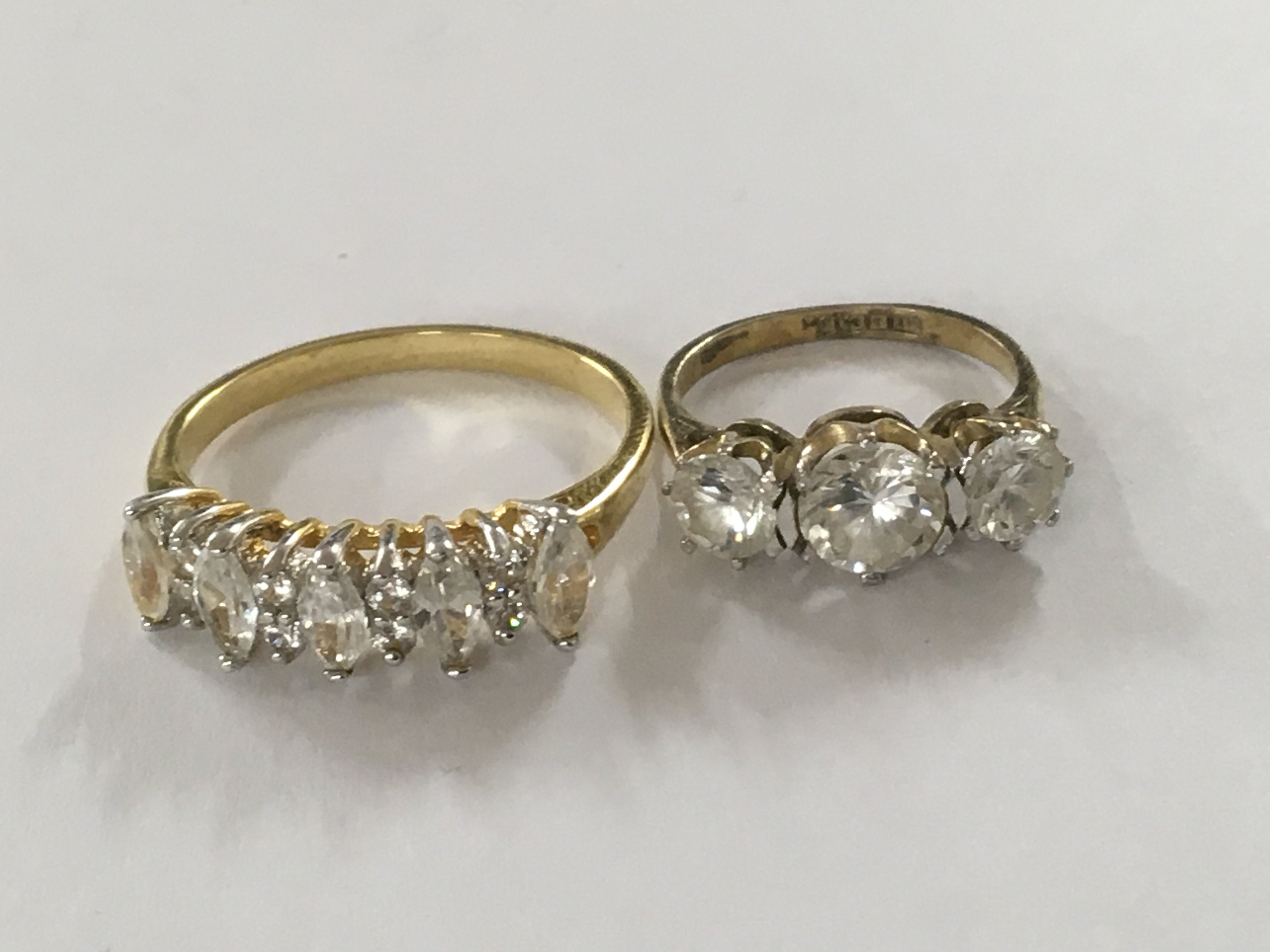Lot 296 - Two dress rings including silver gilt
