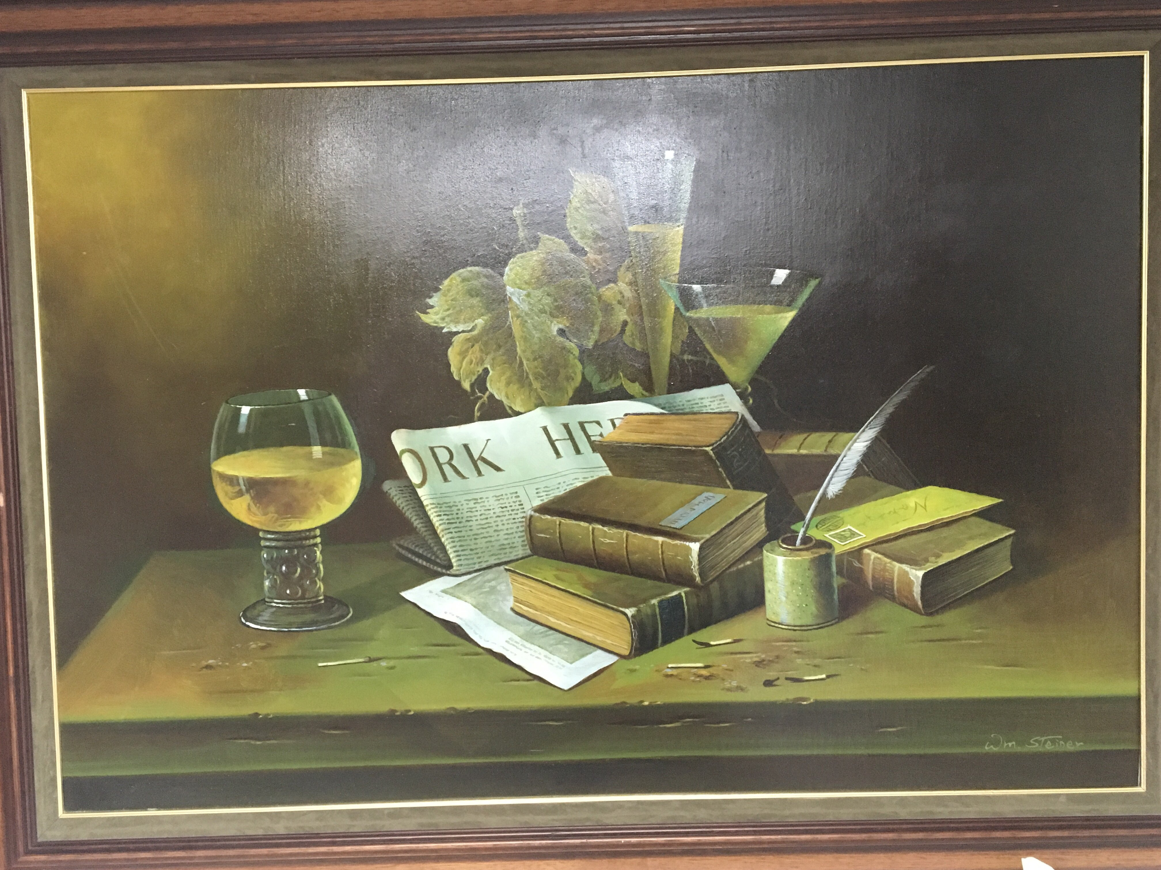 Lot 1224 - A 20th century oil painting still life study with