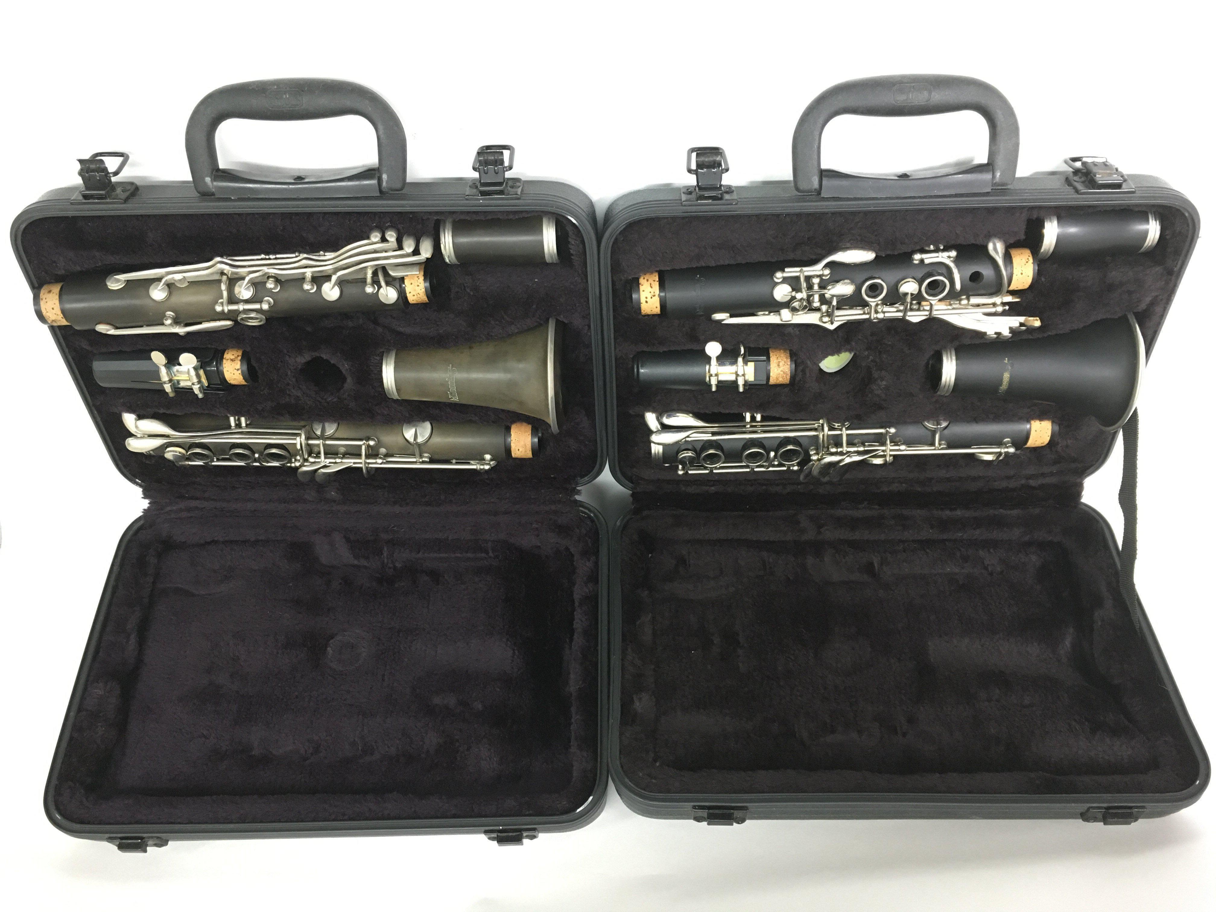 Lot 1828 - Two cased Blessing clarinets