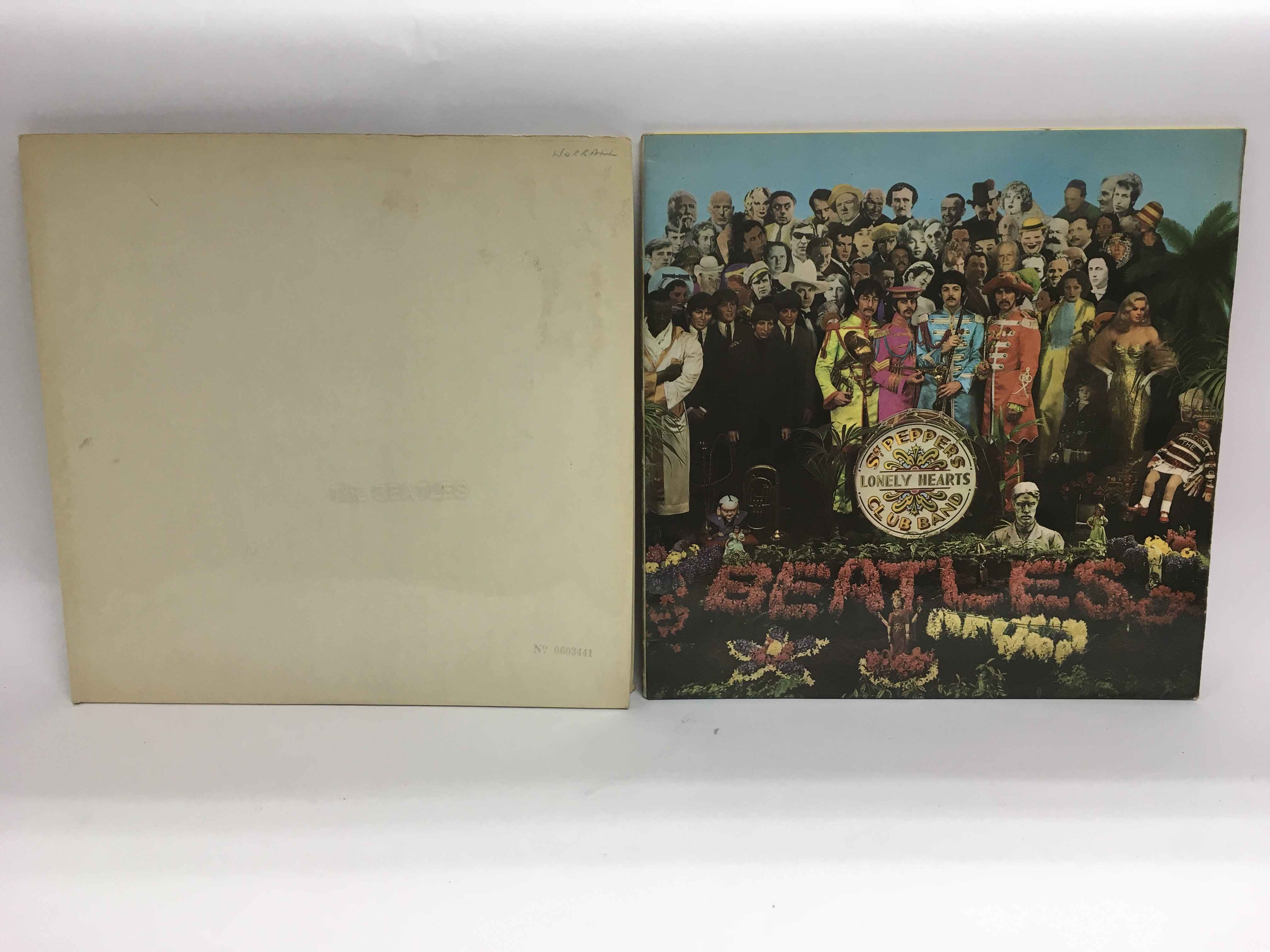 Lot 1781 - Two early issue Beatles LPs comprising a numbered