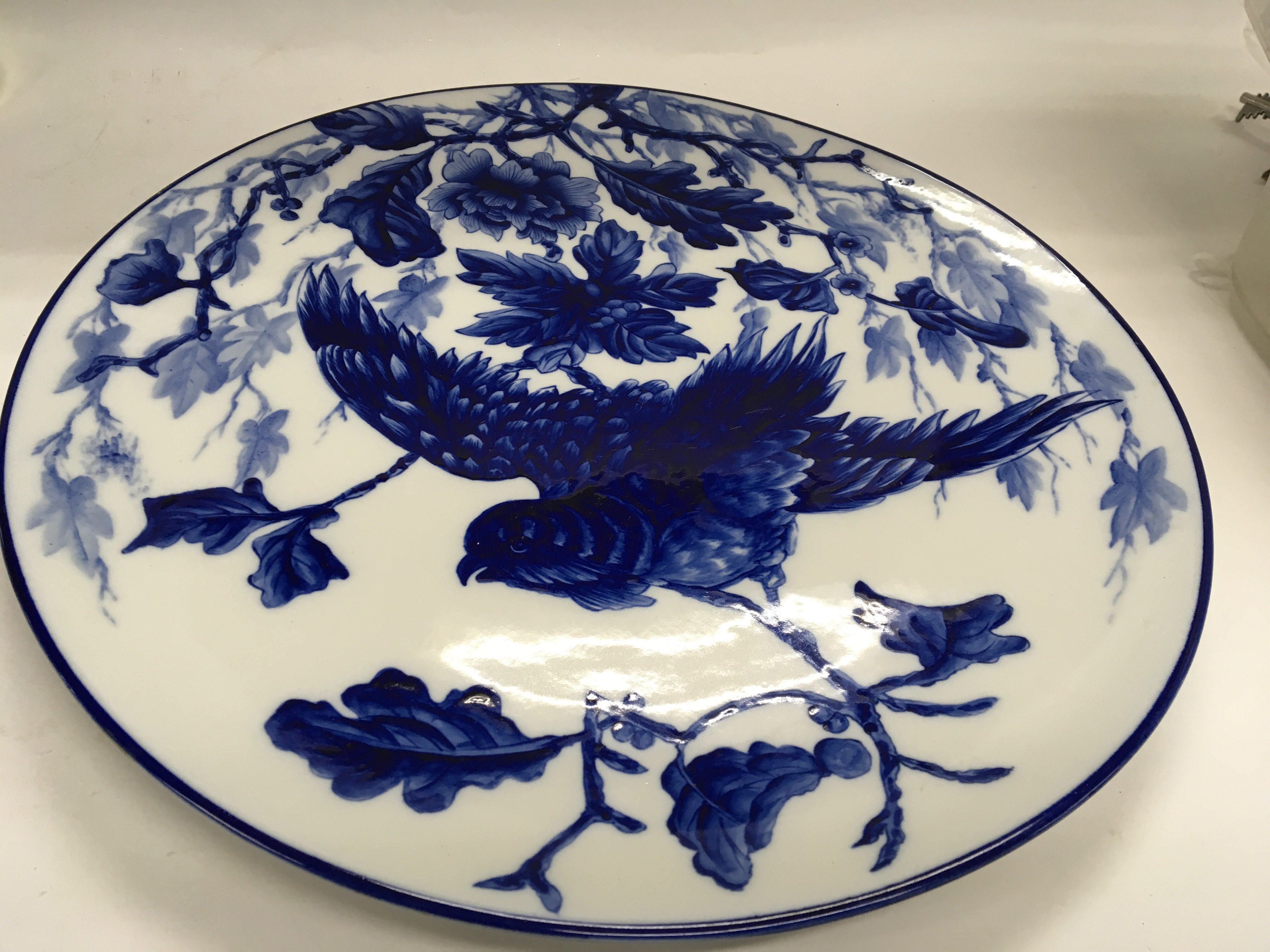 A 19th century Worcester porcelain blue and white