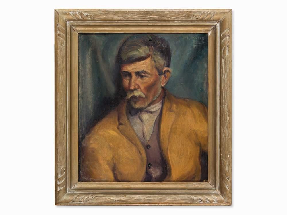 William Howard Shuster (1893-1969), Senor Mora, Oil, USA, 1921 Oil ...