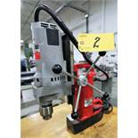 MILAUKEE 4202 ELECTROMAGNETIC PORTABLE DRILL PRESS, S/N 598C603470008
