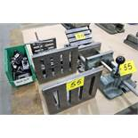 ASSORTED HOLD DOWNS, ANGLE PLATES, VISE