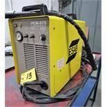 ESAB PCM-875 PLASMA CUTTER, W/STEEL SHOP CART, S/N PE 1944008