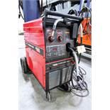 LINCOLN 350 MP POWER MIG WELDER, C/W WHEELS, S/N K2403-1 11147