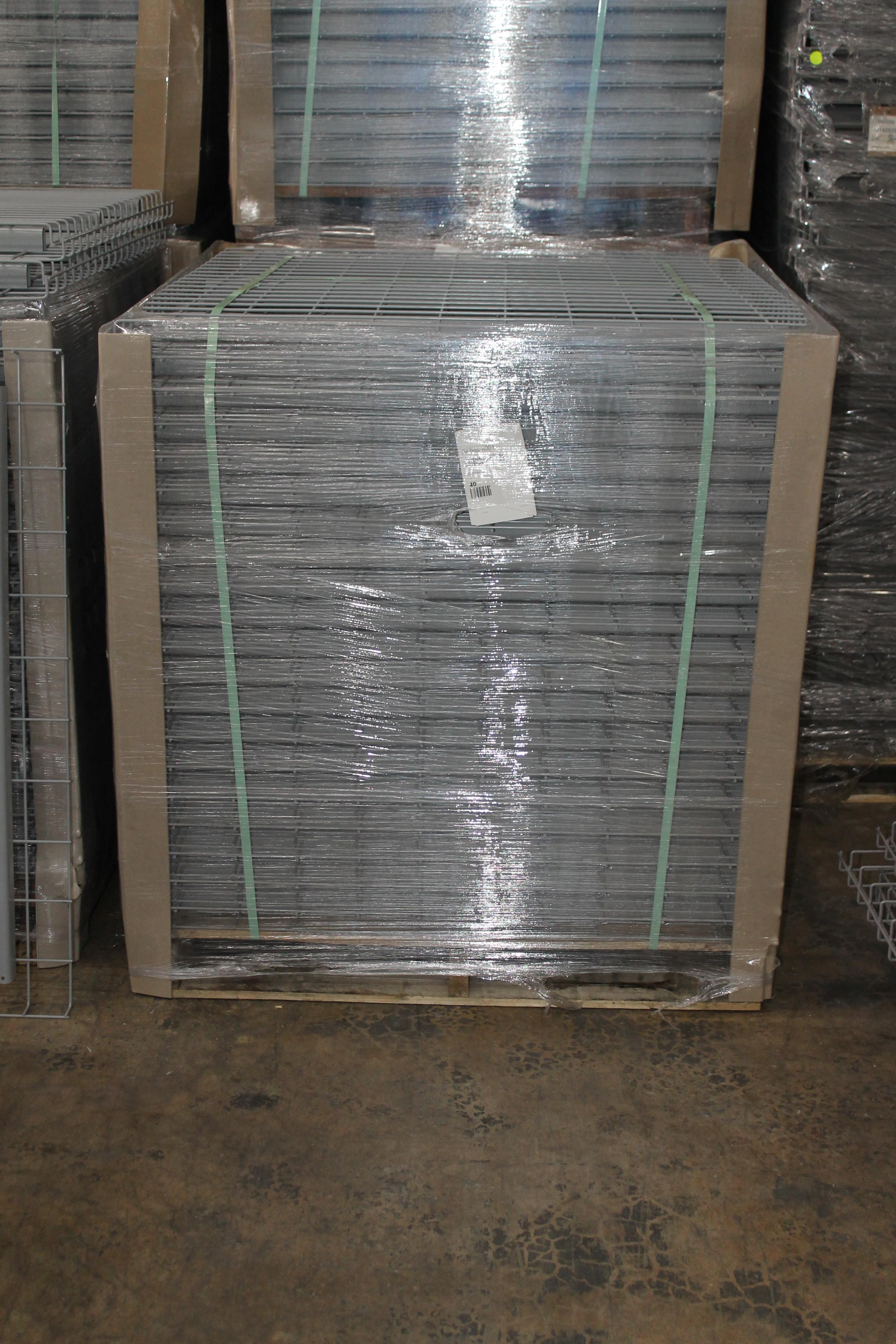 """Lot 50 - NEW 120 PCS OF STANDARD 42"""" X 46"""" WIREDECK - 2200 LBS CAPACITY"""