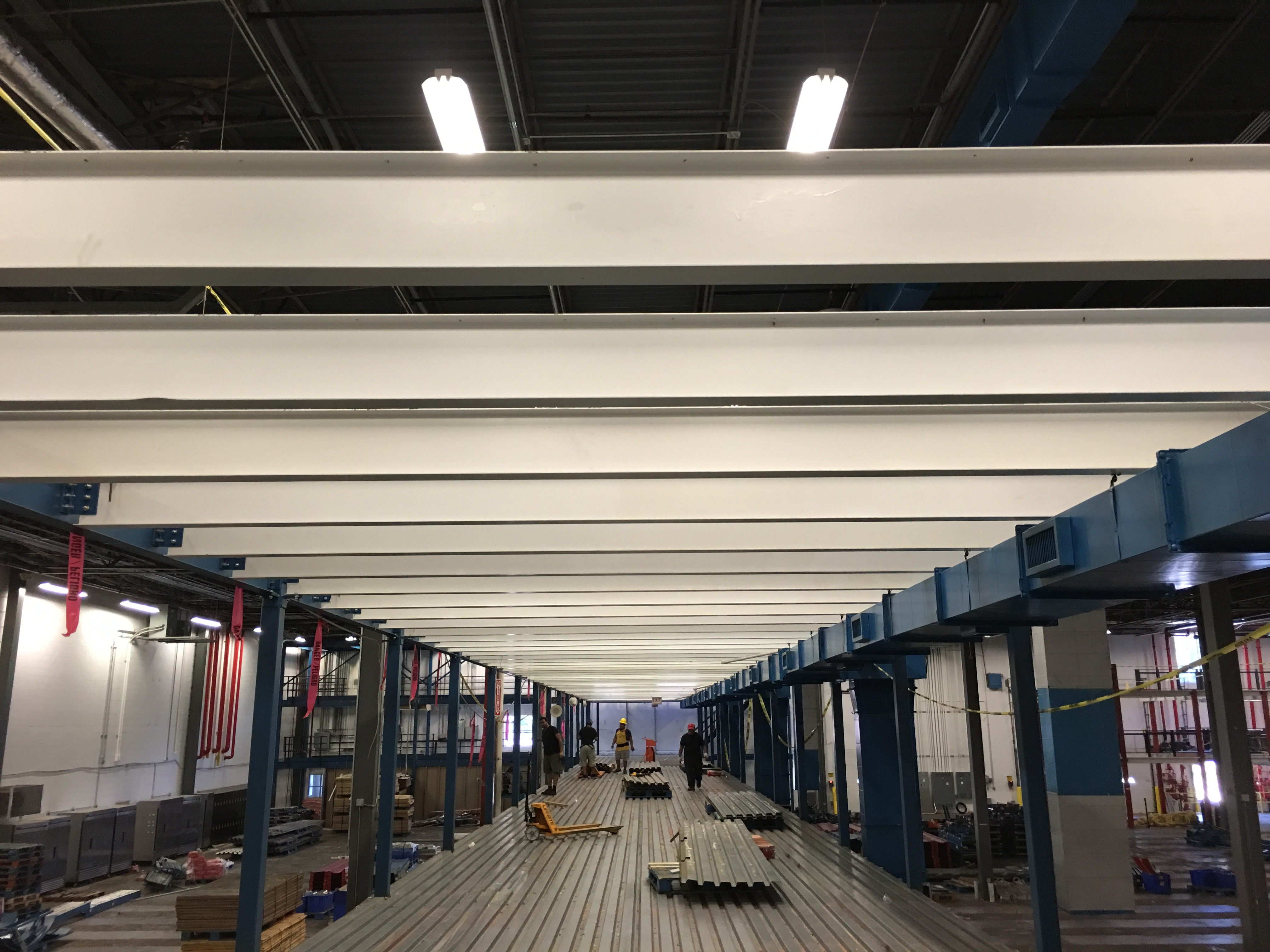 Lot 26 - 1500 SQ FT OF MEZZANINE WITH WOODEN FLOOR DECKING, OVERALL SIZE: 18'W X 84'LONG