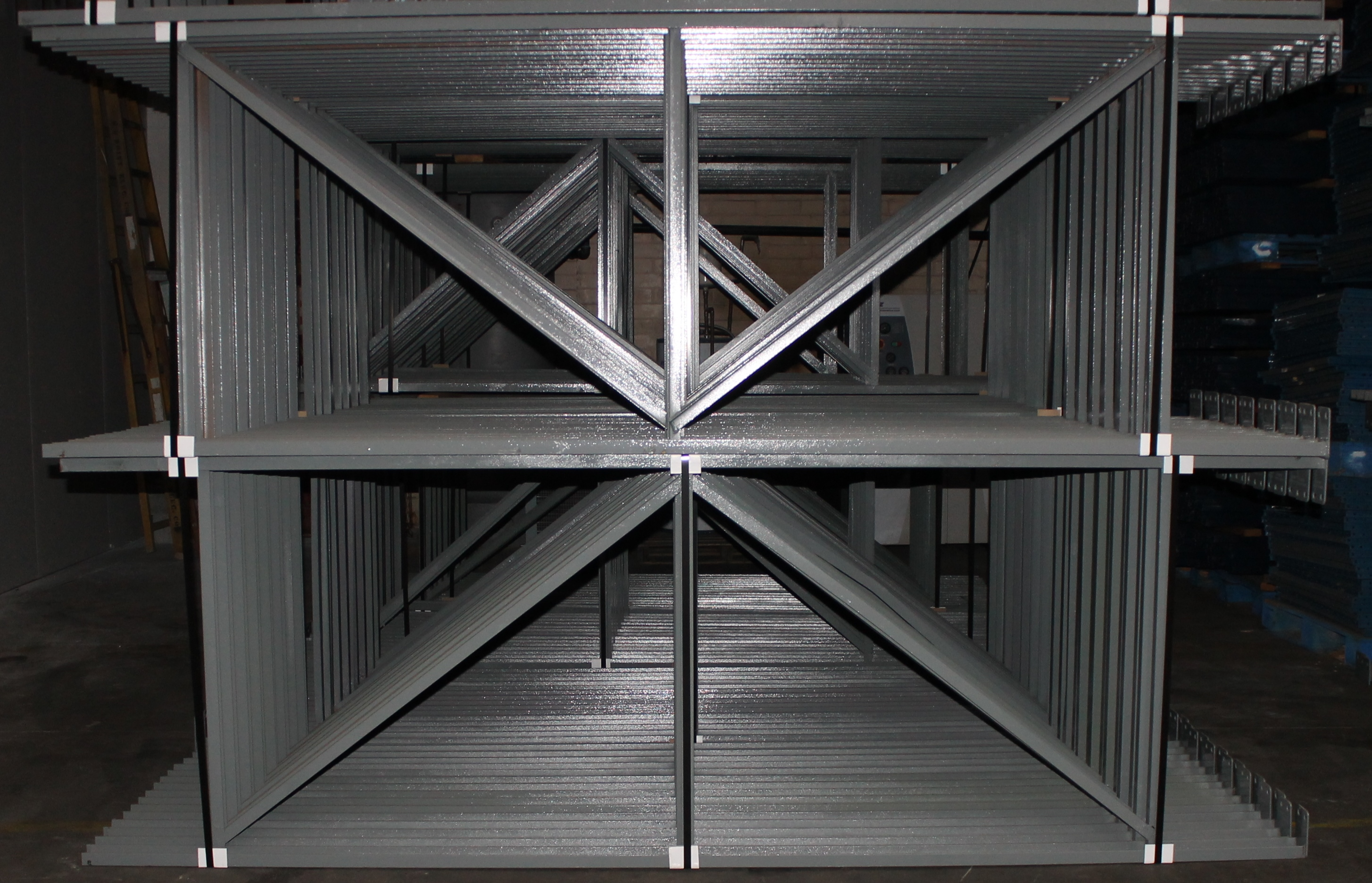 "Lot 15 - 28 BAYS OF 126""H X 42""D X 102""L STRUCTURAL PALLET RACKS"