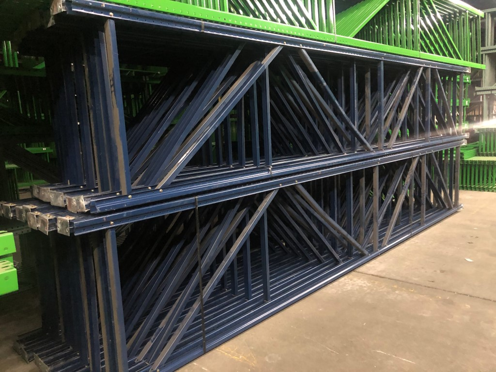 "14 BAYS OF 20'H X 42""D X 96""L USED TEARDROP STYLE PALLET RACKS - Image 3 of 4"