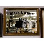 BLACK + WHITE ADVERTISING MIRROR 68 X 52