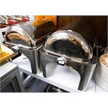 5 STAINLESS STEEL CHAFING ROLL TOP BUFFETS AF