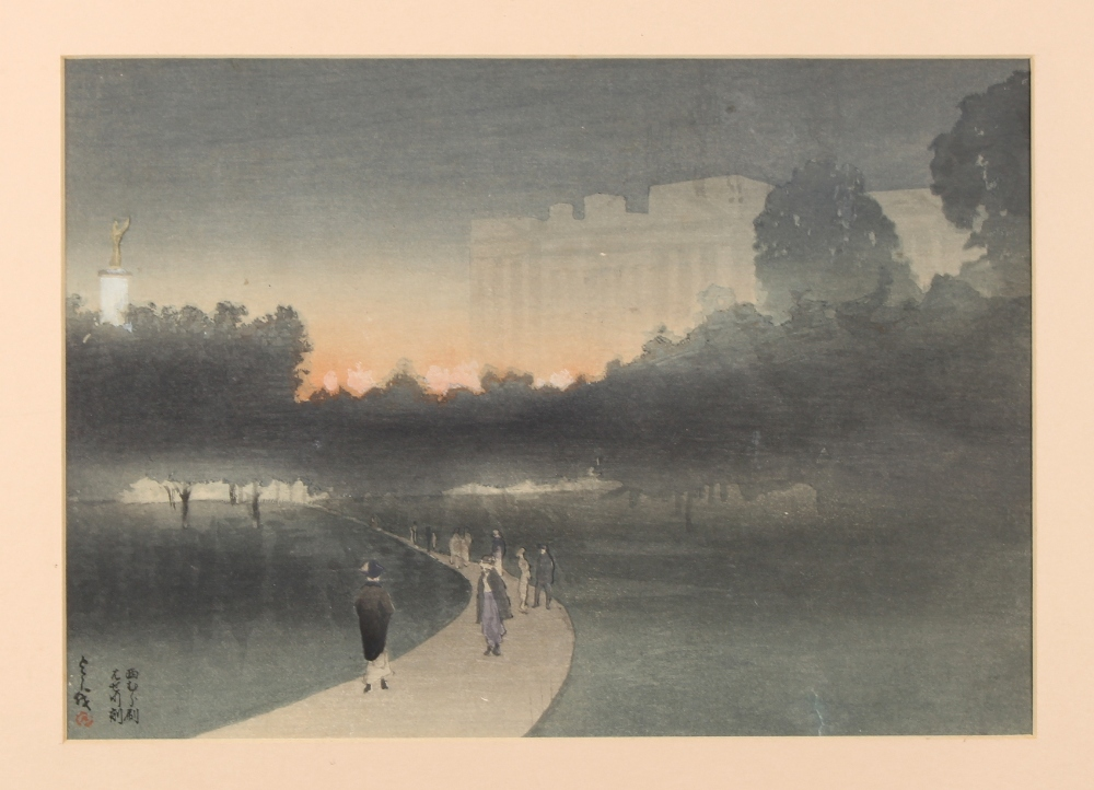 Property of a gentleman - Yoshio Markino (1869-1956) - BUCKINGHAM PALACE, LONDON, SEEN FROM GREEN