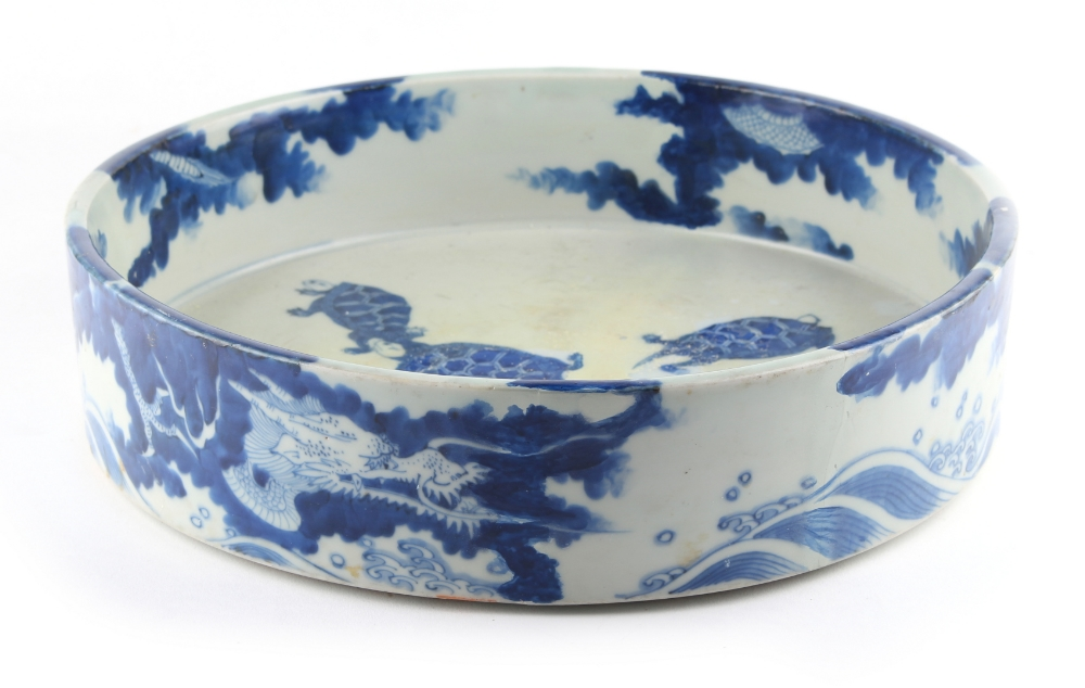 Property of a lady of title - a Japanese blue & white shallow dish, Edo period (1603-1868), the